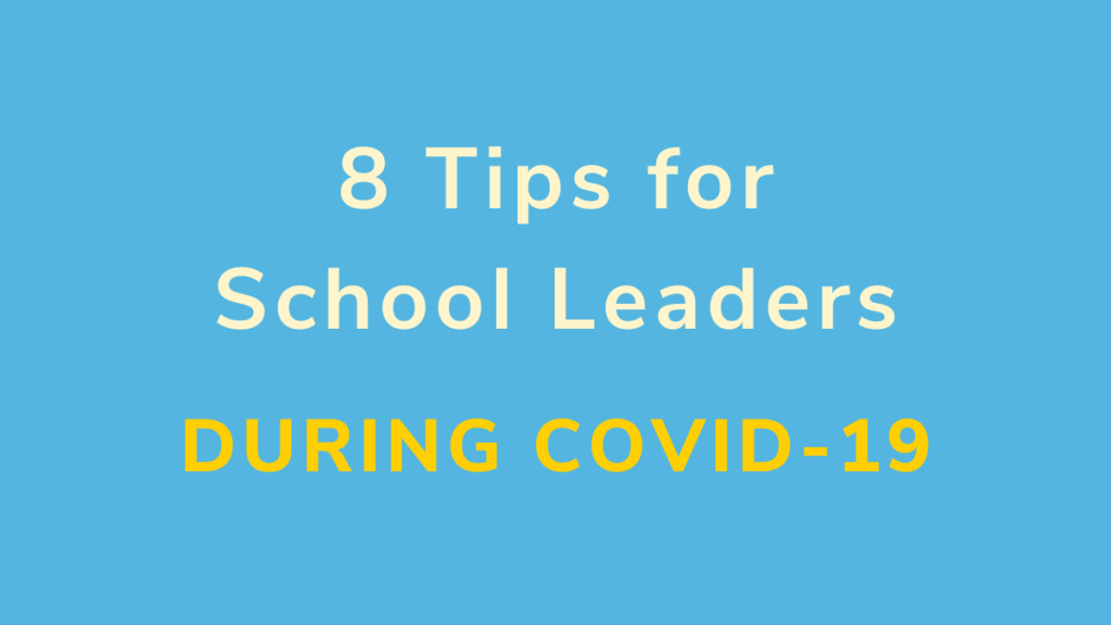 Support your school staff during the COVID-19 outbreak: 8 tips