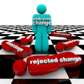 Picture of accepting or rejecting change as one part of the Change management standard.