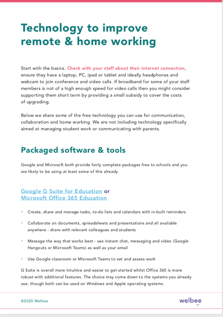 Best technology for working remotely. Guide for school leaders and staff
