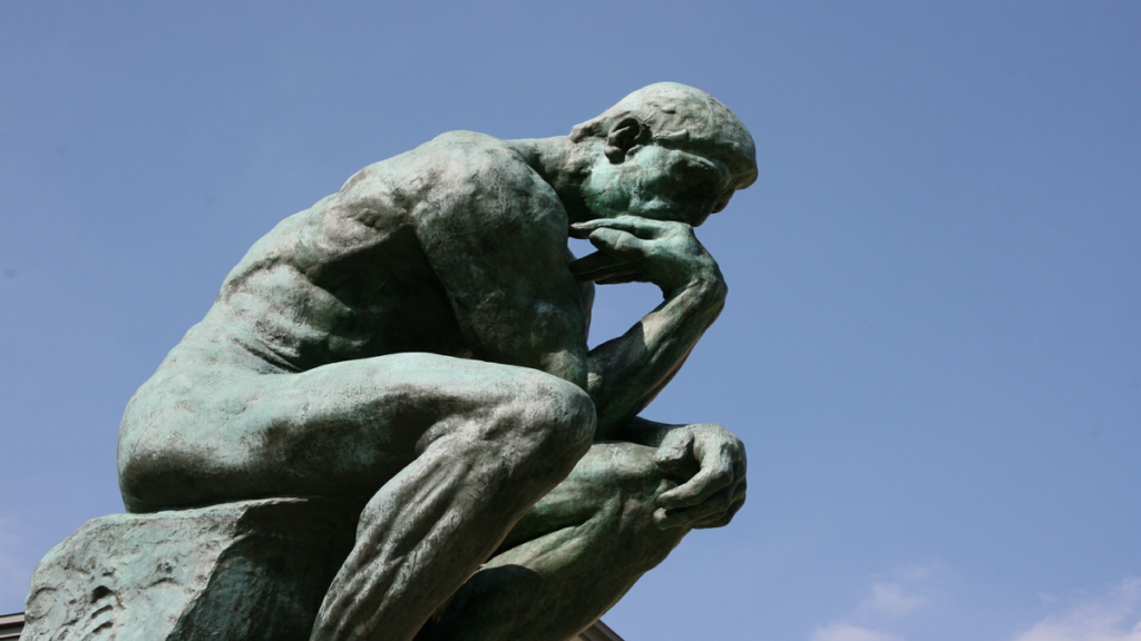 A picture of the statue - The Thinker. Improve staff wellbeing by managing thinking
